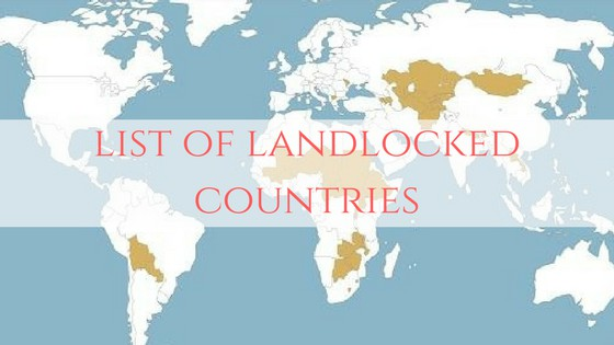 Landlocked Countries of the World