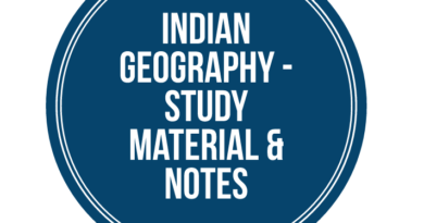 India Geography Study Material Notes