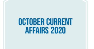 October current Affairs 2020