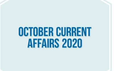 October current Affairs 2020