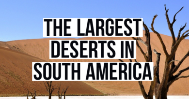 The largest deserts in South America