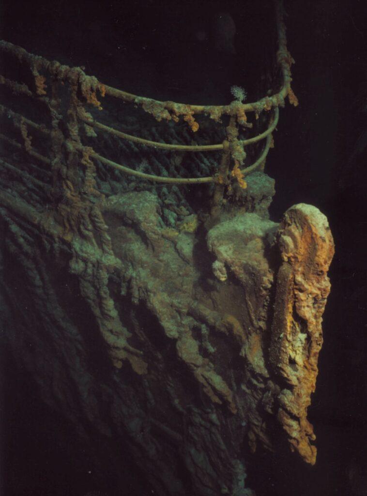 underwater photography of titanic